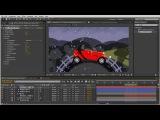 Создание анимации векторного автомобиля в After Effects. Урок 9